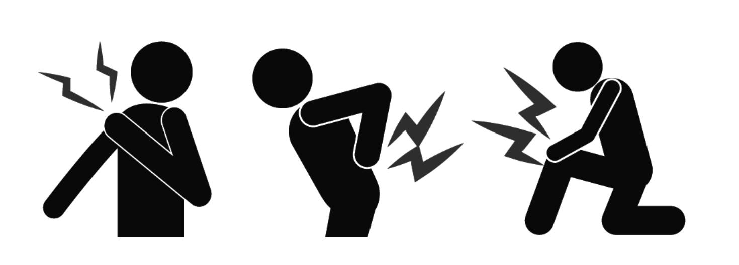 痛み:肩・腰・膝