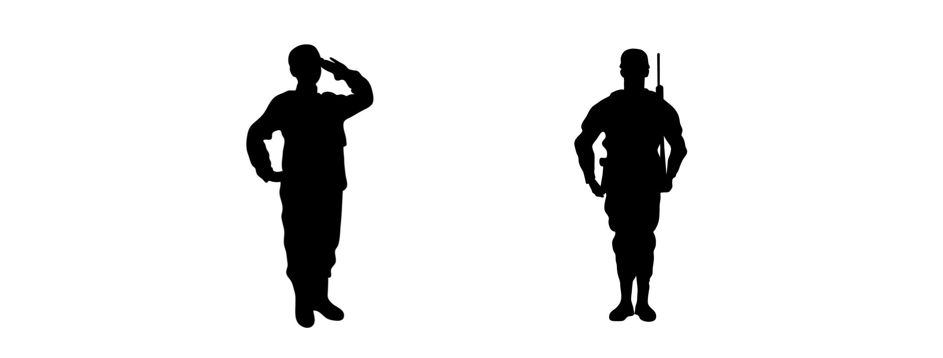 軍隊式姿勢