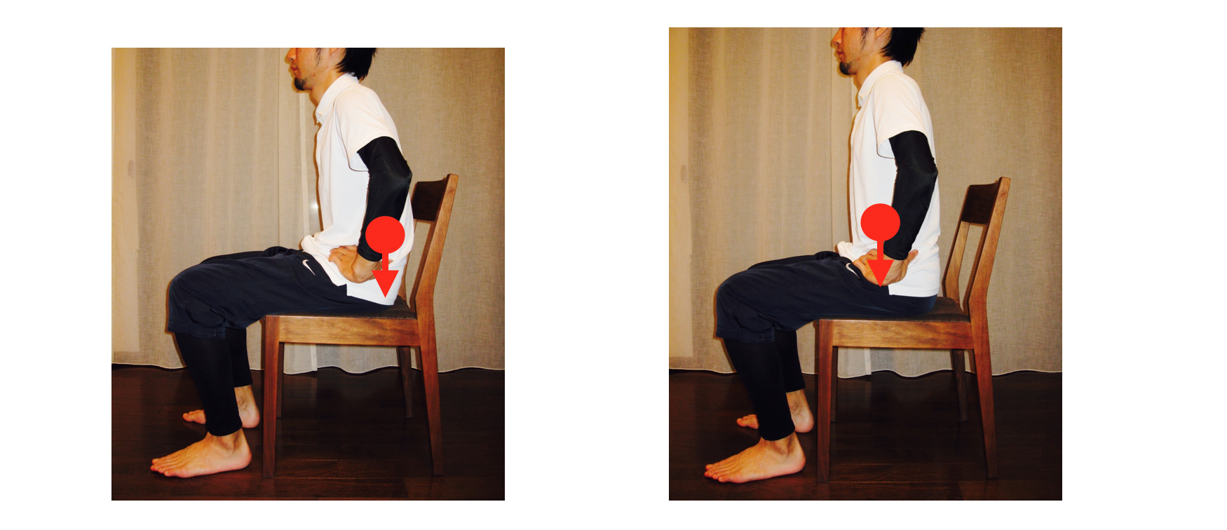 座位姿勢と重心位置