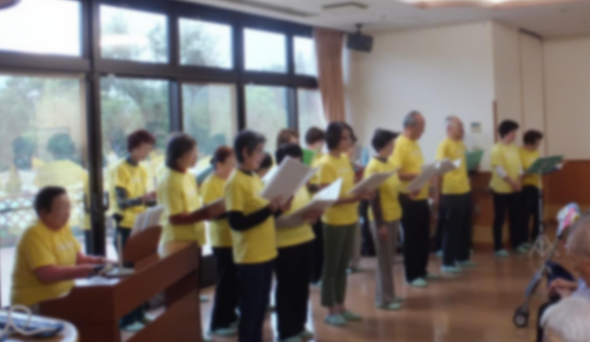 大津市内で開かれたコーラスの発表会